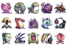 Creatures from ratchet & clank: all 4 one monster malen, bleistiftzeich Character Design Cartoon, Character Design References, Character Drawing, Character Design Inspiration, Character Illustration, Character Concept, Monster Concept Art, Monster Art, Cartoon Monsters