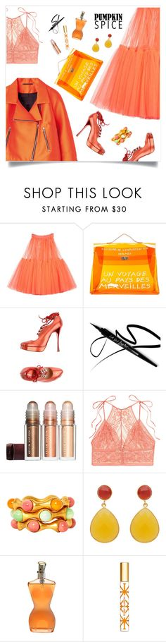 """""""Danielle 🌺"""" by tato-eleni ❤ liked on Polyvore featuring Molly Goddard, Hermès, Vivienne Westwood, STELLA McCARTNEY, Chanel, Jean-Paul Gaultier and Tory Burch"""