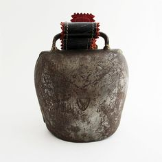 Antique Cow Bell Large with Original Leather