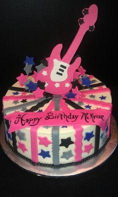 Rockstar Guitar Cake