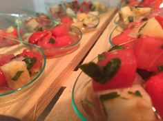 Vodka infused watermelon salad