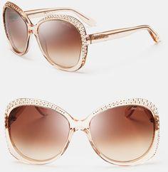 cf62a2d57aaf Jimmy Choo Beige Lu Crystal Oversized Sunglasses - Available at Eye Class  Optometry in Calgary