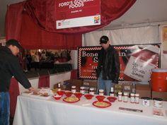 The Bone Suckin' Sauce Booth tasting setup at the Charleston Food & Wine Festival!