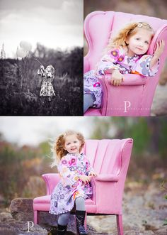 LOVE!! I'm so getting a pink chair like this for clients and hopefully my little girl!!
