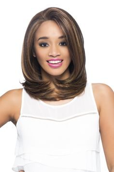 Vivica A Fox Swiss Lace Front Wig Luz Full Lace Front Wigs, Synthetic Lace Front Wigs, Synthetic Wigs, Modern Hairstyles, African Hairstyles, Bob Hairstyles, Girl Short Hair, Short Hair Cuts, Curl Styles
