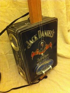 Jack Daniels guitar - cigar box guitar - fretless - 4 string - handmade-vintage | eBay