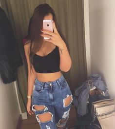 ♥ 34 perfect outfits for summer break 3 Teenage Outfits, Teen Fashion Outfits, Look Fashion, Cute Casual Outfits, Summer Outfits, Summer Dresses, Teenager Fashion Trends, Jugend Mode Outfits, Vetement Fashion