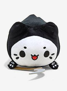 Meowchi Grim Reaper w/ Scythe Plush Cat Kitten Halloween Hot Topic Exclusive Kawaii Plush, Cute Plush, Tasty Peach Studios, Cute Stuffed Animals, Cute Japanese, Grim Reaper, Plushies, Cuddling, Cats And Kittens