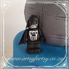 Darth Vader Lego Sugar Figurine #darthvader Darth Vader Lego, Cupcake Cakes, Cupcakes, Star Wars Cake, Lego Cake, Riding Helmets, Fashion Backpack, Sugar, Backpacks