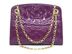 #LouisVuitton Virginia MM Chain Shoulder Bag Verni Violet M90109 (BF067740). Authenticity guaranteed, free shipping worldwide & 14 days return policy. Shop more #preloved brand items at #eLADY: http://global.elady.com