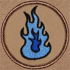 Blue Flame Patrol Patch (#013)