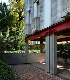 """casa borgo, contrà del quartiere 8, block of flats, vicenza 1974-1979. architect: carlo scarpa, 1906-1978. """"SEIER+SEIER""""."""