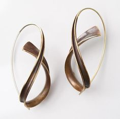 Bronze Cascade Earrings by Nancy Linkin: Gold & Bronze Earrings available at www.artfulhome.com
