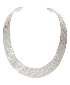 Look what I found on #zulily! Sterling Silver Textured Choker Necklace #zulilyfinds