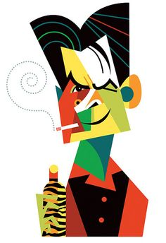 Great colours. I think Charlie has woken up like this a few times. Brilliant. Charlie Sheen by Pablo Lobato, via Flickr