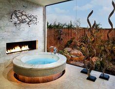Baño moderno bañera redonda