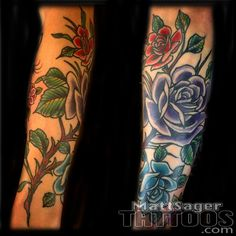 Tattoo Roses by Denver Tattoo Artist at Think Tank Tattoo<br> Real Wedding Vows, Wedding Cd, Wedding Vows Examples, Wedding Name Cards, Wedding Places, Tattoo Roses, Rose Tattoos, Tank Tattoo, Denver Tattoo Artists