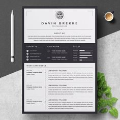 Resume / CV Template by ResumeInventor on Modern Resume Template, Resume Template Free, Creative Resume Templates, Free Resume, Creative Cv, Stationery Templates, Portfolio Web, Resume Examples, Resume Ideas