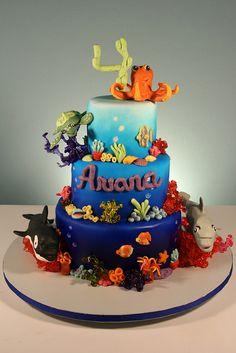 Cute Ocean Theme 4th Birthday.