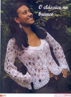 Body gifts: lace jacket for women, free crochet patterns Crochet Bolero, Cardigan Au Crochet, Fall Cardigan, Crochet Jacket, Lace Jacket, Irish Crochet, Crochet Yarn, Knit Crochet, White Cardigan