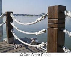 Image result for post and rope fence