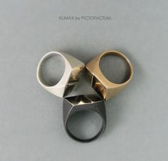 Marvelous Ring Klimax Bronze  illusion of a cube by PICTOFACTUM, €169.00