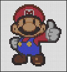 Paper Mario Cross Stitch Pattern Mario by StitchDakota on Etsy, $6.95