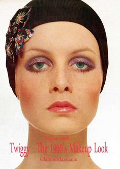 I picked this example for another 60s based look with more Glam makeup, and a less natural look.   Twiggy---The-1960s-makeup-look