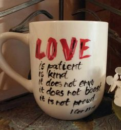 Hey, I found this really awesome Etsy listing at https://www.etsy.com/listing/466642860/12oz-gods-word-hand-painted-mug-love-is