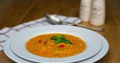...jedna zmých nejoblíbenějších polévek , obohacena celozrnnou těstovinou. Polévka z pečených paprika s žitnými fleky ...