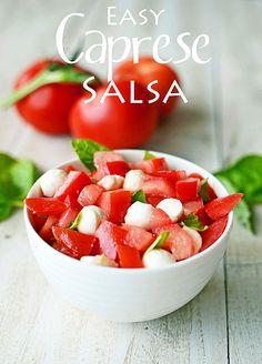 Easy Caprese Salsa -