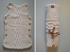 Baby shower gift Hand Knitted Baby Boy Girl Sleep by KnittedHug