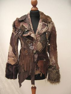 Post apocalyptic inspired jacket Collage reworked