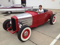 My buddy Alec with my 1929 Ford Hot Rod.
