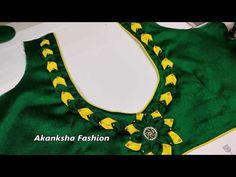 Patch Work Blouse Designs, Simple Blouse Designs, Stylish Blouse Design, Blouse Neck Patterns, Designer Blouse Patterns, Back Neck Designs, Blouse Neck Designs, Blouse Designs Catalogue, Embroidery Neck Designs