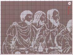 Last supper abstract 2/10.......solo esquemas religiosos (pág. 51) | Aprender manualidades es facilisimo.com
