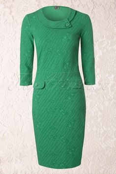 Wow To Go! - 60s Ivy Wow Dress in Green