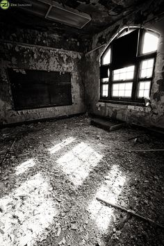 Classroom inside the closed Scullin School in St. Abandoned Mansions, Abandoned Buildings, Abandoned Places, Places Around The World, Around The Worlds, Urban Decay Photography, School's Out Forever, 10 Picture, Haunted Places