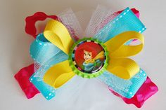 LITTLE MERMAID BOW. Hair Bow. Little Mermaid. Hairclip for girls. Disney Hair Bow. Hair bow for girls. Hair accessories. Girls Hairclips. $6.50, via Etsy.