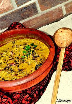Kerala style Dried fish and Raw Banana curry