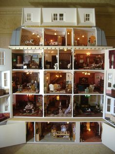 My dolls house (jt-love this dolls house interior ... looks interesting and inviting)