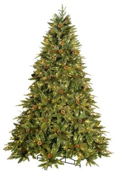GKIBethlehem Lighting 712Foot PEPVC Christmas Tree with Clear Mini Lights Full Green River Spruce *** Find out more about the great product at the image link.