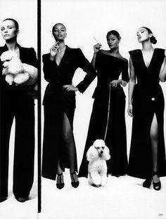 Vogue Italia March 1995 - Brandi Quinones, Helena Christensen & Monica Bellucci