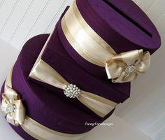 Purple & Gold Card Box