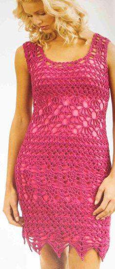 Crocheted dress from Tahki.