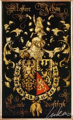 """(228) Jean, comte d'OSTFRISE, comte de Durbuy (1506-1572) -- """"Messire Jehan, conte d'Oystfrise"""" -- Armorial plate from the Order of the Golden Fleece, 1559, Saint Bavo Cathedral, Gent"""