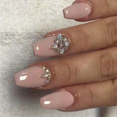 Fresh set of glitter bottoms  this pink color from @glamandglitsnails is just amaz...