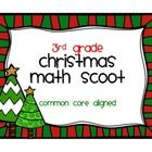 3rd Grade Christmas Math Scoot Common Core Aligned  Play this Christmas math scoot with your 3rd grade students! This is a great way to practice and reinforce their knowledge of a wide variety of Common Core math concepts--multiplication, division, rounding, addition, subtraction, area, perimeter, time, measurement, and fractions.