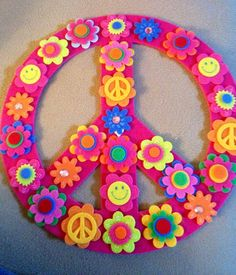 Peace sign craft | *girl*party* | Pinterest