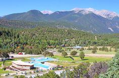 Overlooking The Water Slide At Mount Princeton Hot Springs Resort